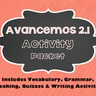 Avancemos 1 - 2.1 - 35 Page Activity Packet!!!