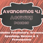 Avancemos 1 - 4.1 - 36 Page Activity Packet!!!