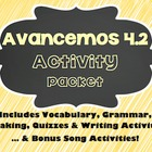 Avancemos 1 - 4.2 - 34 Page Activity Packet!!!