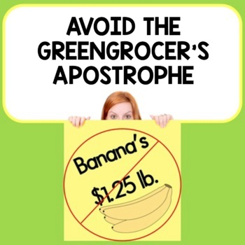 Avoid the Greengrocer's Apostrophe