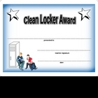 Award Certificate  -  Clean Locker 3 with Boy and Girl