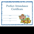 Award Certificate  -  Perfect Attendance