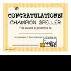 Award Certificates SPELLING BEE Set/4