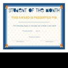 Award Certificates STUDENT OF WEEK / MONTH / YEAR