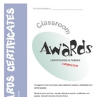 Awards, Certificates and Passes for students - printable, 