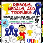 Awards Clip Art: Ribbons, Medals, &amp; Trophies for Commercial Use