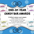 Awards End of Year Candy Bar Awards - 30 Customizable {Col