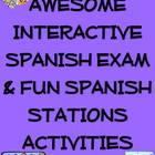 Awesome Interactive Spanish Exam &amp; Fun Spanish Stations Ac