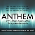 Ayn Rand&#039;s Anthem Unit Worksheets, Projects, and Journals 