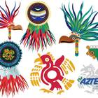 Aztec Indians Clip Art Set