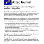 Aztec Journal Group Activity Project