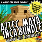 Aztec, Maya, Inca Activity and Note Bundle Common Core Grade 5-8