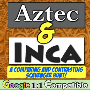 Aztecs and Incas - A Comparing and Contrasting Scavenger Hunt!