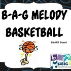 B-A-G Melody Basketball SMART Board Lesson