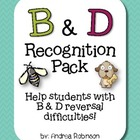 B &amp; D Recognition Pack - Help with reversal difficulties