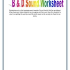 B and D Sound Worksheet