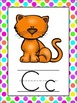 B is for BRIGHT Neon Polka Dot Alphabet Posters