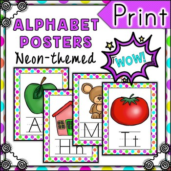 B is for BRIGHT Alphabet Posters