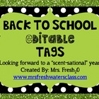 """B2S editable tags """"Looking forward to a """"scent-sational"""" year!"""""""