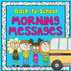 BACK TO SCHOOL - Morning Messages