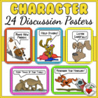 BACK TO SCHOOL POSTERS - 23 Fun Character &amp; Study Skills M