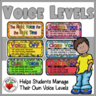 BACK TO SCHOOL -- Voice Levels to Control Noise (fillable form!)