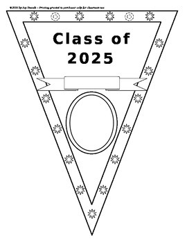 BACK TO SCHOOL/OPEN HOUSE - Pennant for student info and goals