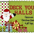 BANNER - Merry Christmas  Decor (with Santa)
