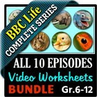 BBC Life - All 10 Episodes - Video Questions Worksheets Bundle