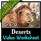 BBC Planet Earth - DESERTS Episode - Video Questions Worksheet