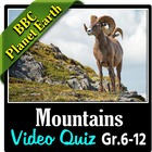 BBC Planet Earth - MOUNTAINS Episode - Video Quiz