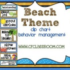 BEACH THEME CLIP CHART / BEHAVIOR PLAN-classroom theme {pr