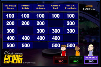BEST Jeopardy Game out there! It's CLASSROOM GAME SHOW!