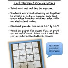 BIG HUGE PUZZLE Converting Fractions, Decimals and Percents