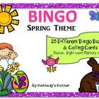 BINGO ~ Spring Theme ~ Memory Game included