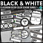 BLACKLINE DESIGN- CLASSROOM DECOR &amp; MORE BUNDLE (black, wh