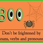 BOO - Nouns, Verbs, and Pronouns Game