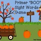 """BOO"" Primer Sight Words Game"