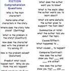 BOOKMARK IT!  Fiction and Non-fiction Comprehension Questions