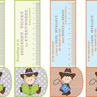 BOOKMARKS COUNTRY GIRL/BOY 3in1: bookmark +ruler + motivat