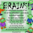 BRAINS!! an apocalyptic bundle of BRAINS!! card decks (art