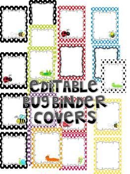 BUG BINDER COVERS editable