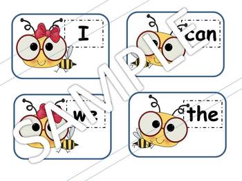 BUG SPLAT Sight Word Practice - Kinder