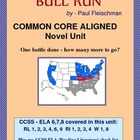 BULL RUN Novel Study:  Common Core Aligned
