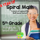 BUNDLE SET -- 5th Grade Spiral Math Homework and Quizzes