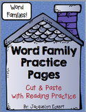 Misc Families BUNDLE: Word Family Cut, Paste & Read Practice