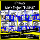 BUNDLED! 90 4th Grade Common Core Math Projects To Use All