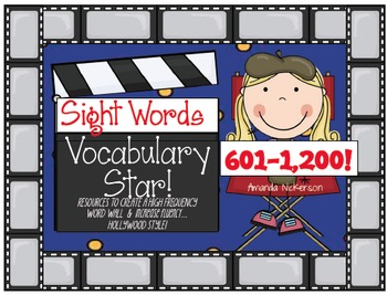 BUNDLED Sight Word Vocabulary Star: The Last 600 Words