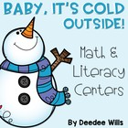 Baby It&#039;s Cold Outside-Winter Literacy and Math Stations-CC