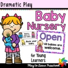 Baby Nursery - Dramatic Play Center Signs